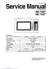 Panasonic NE-1037 Manuals