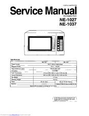Panasonic NE-1027 Manuals