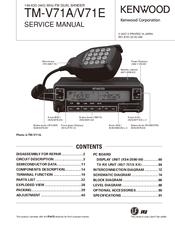 Kenwood TMV71A Manuals