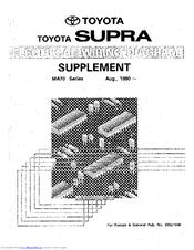 Toyota 1990 Supra MA70 Series Manuals