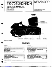 Kenwood TK-705D Manuals