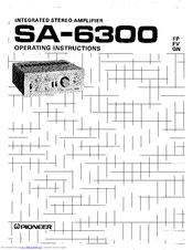 Pioneer SA-6300 Manuals