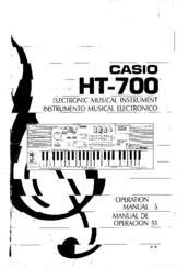 Casio HT-700 Manuals