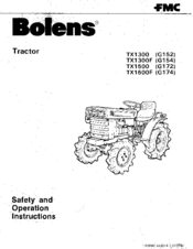 Bolens TX1500F G174 Manuals