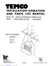 Temco TBF 36-1 Manuals