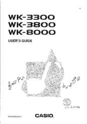 Casio WK-8000 Manuals