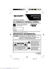 Sharp LC 15SH6U Manuals