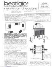 Heatilator 3138 E.P. Manuals