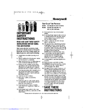 Honeywell QuietClean HFD-116 series Manuals