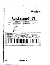 Casio Casiotone 501 Manuals