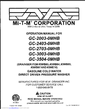 Mi-t-m GC-2003-0MHB Manuals