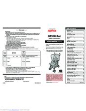 Aprica Stick Flat Manuals