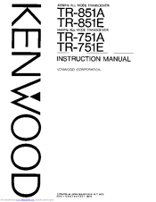 Kenwood TR-751E Manuals