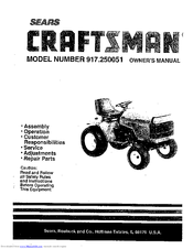 Craftsman 917.250051 Manuals