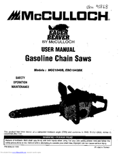 Mcculloch MCC1840B Manuals