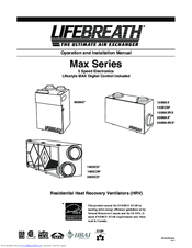 Lifebreath 200MAX Manuals