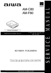 Aiwa AM-F80 Manuals