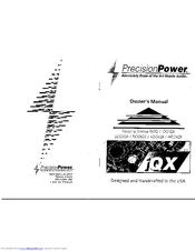Precision Power Sedona 200iQX Manuals