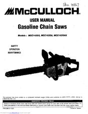 Mcculloch MCC1635A Manuals