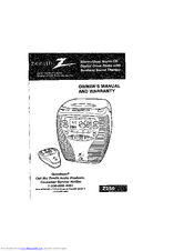 Zenith Z250 Manuals