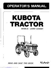 Kubota L2350 Manuals