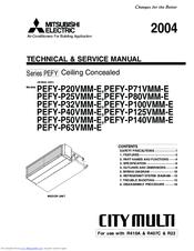 Mitsubishi Electric PEFY-P63VMM-E Manuals