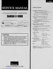 Sansui C-1000 Manuals