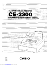 Casio CE-2300 Manuals