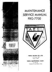 Yaesu FRG-7700 Manuals