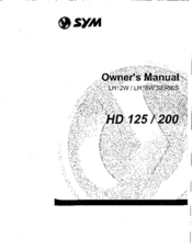 Sym HD 200 Manuals