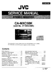 Jvc CA-MXC5BK Manuals
