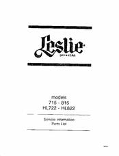 Leslie HL722 Manuals
