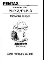 Pentax PLP-3 Manuals