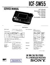 Sony ICF-SW55 Manuals
