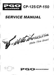 Pgo T-REX 150 Manuals
