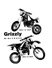 Malaguti Grizzly Minicross RCX/12 50CC Manuals
