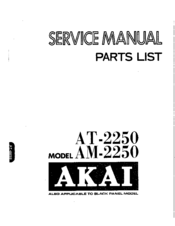 Akai Am 2250 Service Manual
