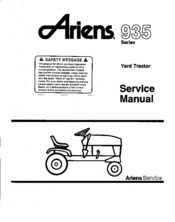 Ariens 935 Series Manuals