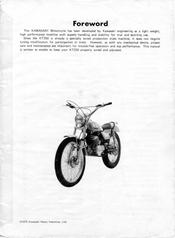 Kawasaki KT250 Manuals