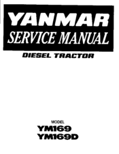 Yanmar YM169D Manuals