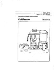 Krups CafePresso 171 Manuals