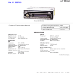 Sony Cdx Gt410u Wiring Diagram 12v Charge Controller Circuit Gt414u Service Manual Pdf Download