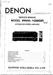 Denon PMA-1080R Manuals