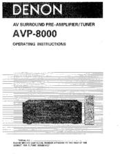Denon AVP-8000 Manuals