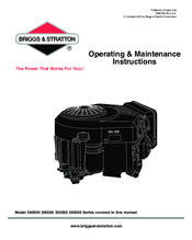 Briggs & Stratton 380000 Series Manuals