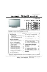 Sharp AQUOS LC52LE700UN Manuals