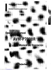 Pioneer AVM-P7000R Manuals