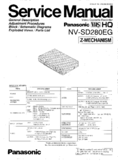 Panasonic NV-SD280EG Manuals