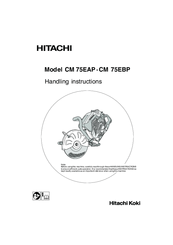 Hitachi CM 75EBP Manuals