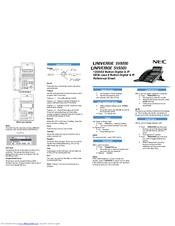 Nec SV8300 Manuals